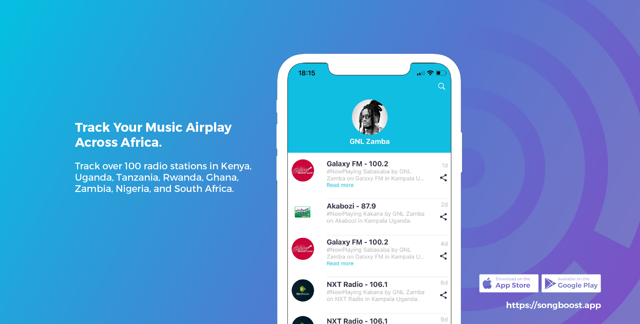 Track Your Music Airplay Across Africa: SongBoost App
